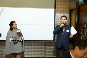MCs for the dinner - Ms. Happy Xu & Mr. Derio Chan