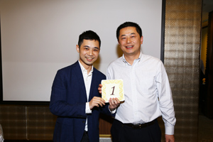 Grand Prize given by Mr. Liu Zhongdong, President of Ruijie Networks