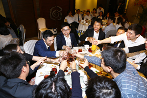 Cheers - A Happy Moment at the Graduate Dinner